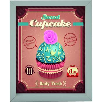 Cuadro 20X25 6001 Cupcake Retro